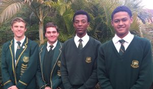 Kwa-Zulu Natal Inland Cricketers (from left to right) R. Benecke, C. High, S. Thanethe, J. Stoltenkamp.