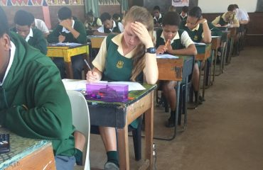 Learners writing Maths