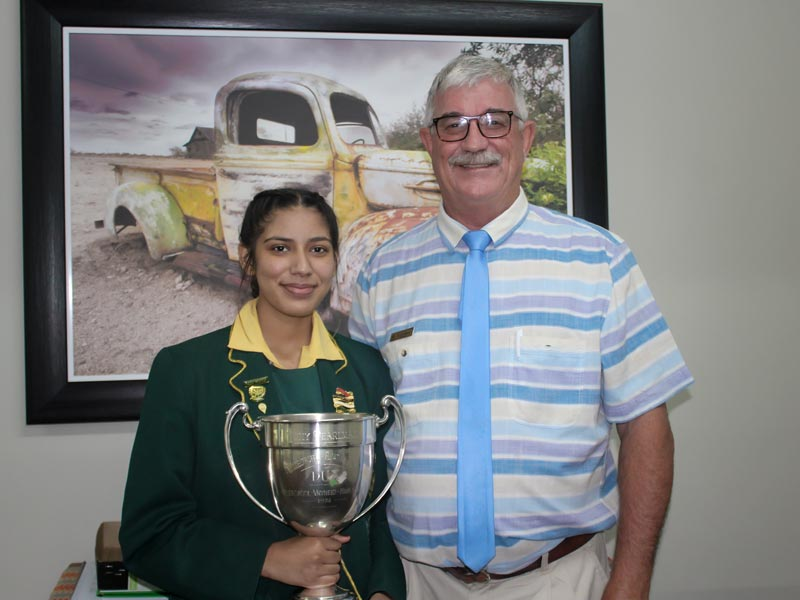 Aliya Paruk Dux Student at Vryheid High School