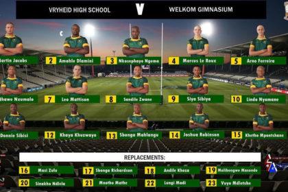 Vryheid High Rugby Team Selection Winter Sports Season