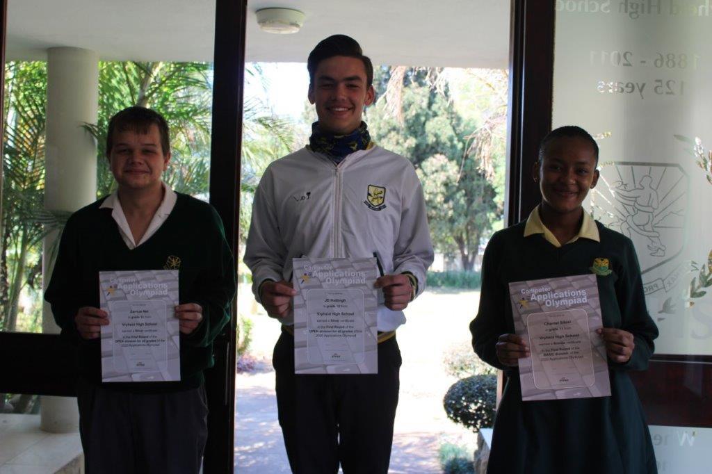 Academic Olympiad success at Vryheid High School